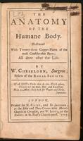The anatomy of the humane body : illustrated with twenty-three copper plates of the most considerable parts; all done after the life.