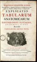 Explicatio tabularum anatomicarum Bartholomæi Eustachii.