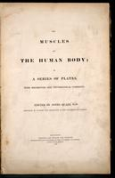 The muscles of the human body : in a series of plates, with references and physiological comments. Edited by Jones Quain.